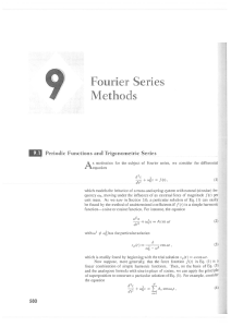 Fourier Series Methods A Periodic Functions and Trigonometric Series