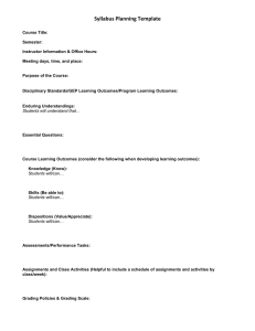 Syllabus Planning Template