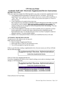 UW-Stevens Point Academic Staff A&C Electronic Supplemental Review Instructions