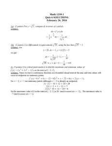 Math 1210-1 Quiz 6 SOLUTIONS February 26, 2016