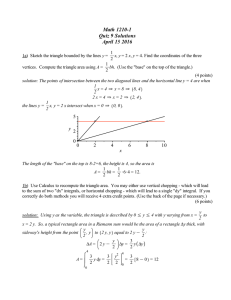 Math 1210-1 Quiz 9 Solutions April 15 2016 y