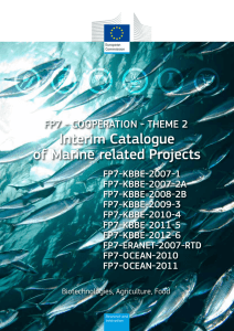 Interim Catalogue of Marine related Projects FP7 - COOPERATION - THEME 2