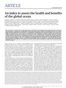 ARTICLE An index to assess the health and benefits