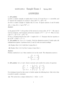 Sample Exam 1 ANSWERS MATH 2270-2 Spring 2016