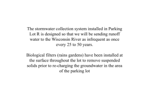 The stormwater collection system installed in Parking