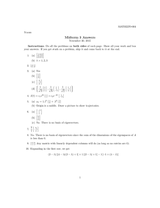 Midterm 3 Answers