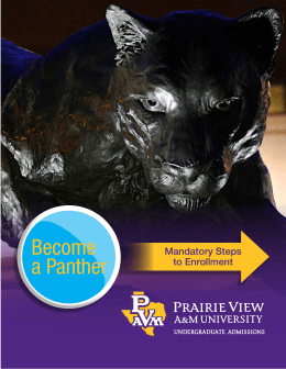 Become a Panther Mandatory Steps to Enrollment