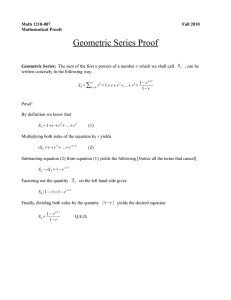 Geometric Series Proof ∑