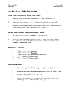 Applications of the Derivative
