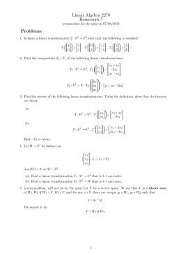Linear Algebra 2270 Homework 7 Problems: