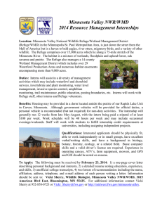 Minnesota Valley NWR/WMD 2014 Resource Management Internships