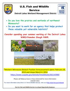 U.S. Fish and Wildlife Service Detroit Lakes Wetland Management District