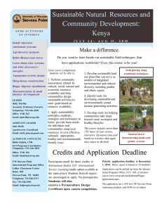 Sustainable Natural  Resources and Community Development: Kenya