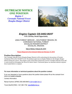 OUTREACH NOTICE ONE POSITION Engine Captain GS-0462-06/07