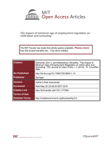 The impact of minimum age of employment regulation on Please share