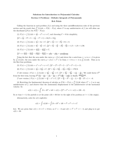 Solutions for Introduction to Polynomial Calculus
