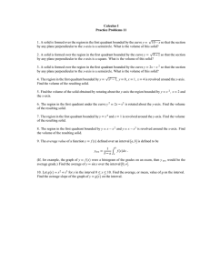 Calculus I Practice Problems 11 y 10