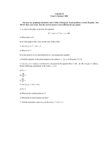 Calculus II Exam 2, Summer 2003