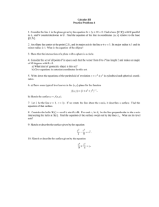 Calculus III Practice Problems 4 U V