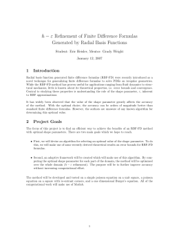 h − ε Refinement of Finite Difference Formulas 1 Introduction