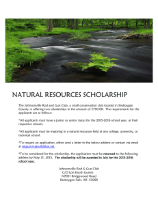 NATURAL RESOURCES SCHOLARSHIP