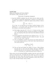 MATH 2250 Differential Equations and Linear Algebra Homework 4 Computing Assignment