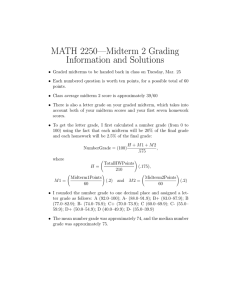 MATH 2250—Midterm 2 Grading Information and Solutions