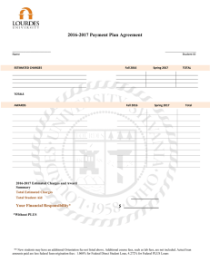 2016-2017 Payment Plan Agreement