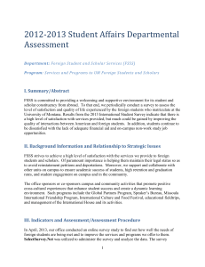 2012-2013 Student Affairs Departmental Assessment I. Summary/Abstract