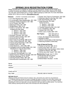 Please use this form to register for classes and special... Lourdes University and mailed to Lifelong Learning, 6832 Convent Blvd,...