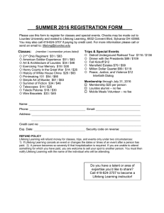SUMMER 2016 REGISTRATION FORM
