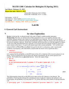 MATH 1180: Calculus for Biologists II (Spring 2011)