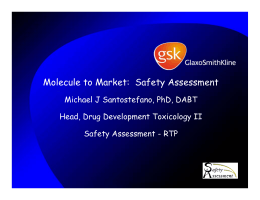 Molecule to Market:  Safety Assessment Michael J Santostefano, PhD, DABT