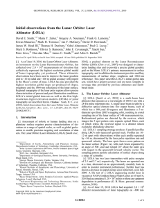 Initial observations from the Lunar Orbiter Laser Altimeter (LOLA)