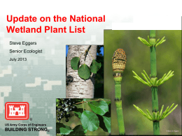 Update on the National Wetland Plant List  BUILDING STRONG