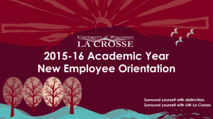2015-16 Academic Year New Employee Orientation