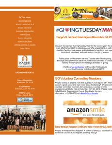 Support Lourdes University on December 1st, 201