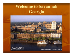 Welcome to Savannah G i Georgia