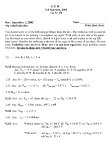 ECE 301 Fall Semester, 2002 HW Set #l Name