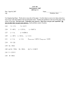 ECE 301 Fall Semester, 2007 HW Set