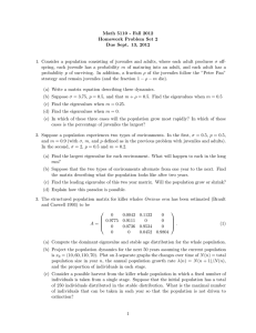 Math 5110 - Fall 2012 Homework Problem Set 2