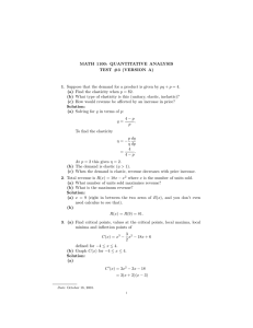 MATH 1100: QUANTITATIVE ANALYSIS TEST #3 (VERSION A)
