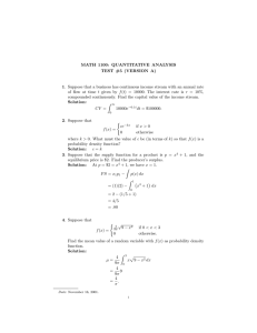 MATH 1100: QUANTITATIVE ANALYSIS TEST #5 (VERSION A)