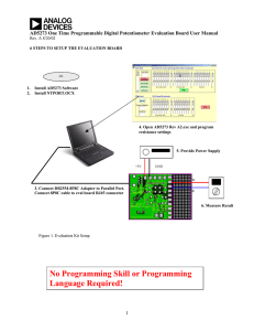 a AD5273 One Time Programmable Digital Potentiometer Evaluation Board User Manual