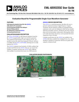 EVAL-AD5932EBZ User Guide UG-796