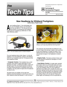 A Fire New Headlamp for Wildland Firefighters Technology &