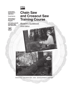 Chain Saw and Crosscut Saw Training Course