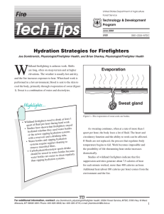 W Fire Hydration Strategies for Firefighters Evaporation