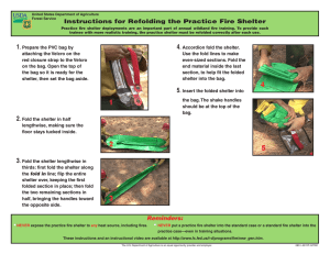 Instructions for Refolding the Practice Fire Shelter