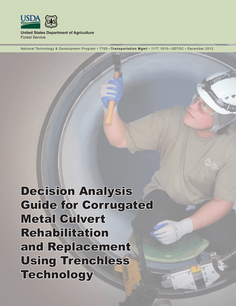 Decision Analysis Guide for Corrugated Metal Culvert